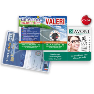 GG042 – Porta card 2 ante in PVC