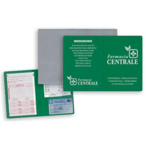 GG032 – Porta ricette 2 ante con porta card e scontrini