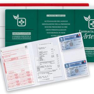 GG034 – Porta ricette 3 ante con porta card e scontrini