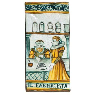 GG015 – Ceramica da Farmacia – Mattonella il Farmacista