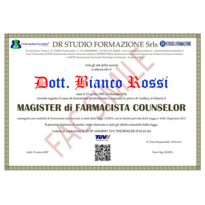 SE004 – Il Farmacista Counselor